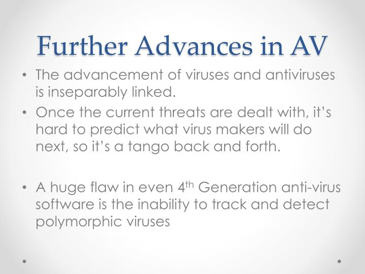Further Advances in AV