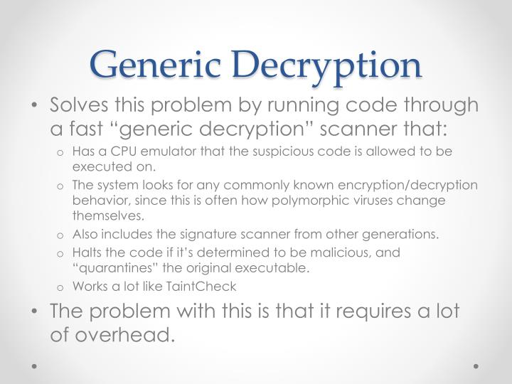 Generic Decryption
