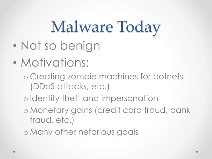 Malware Today