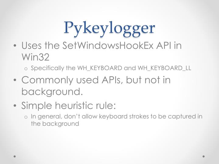 Pykeylogger