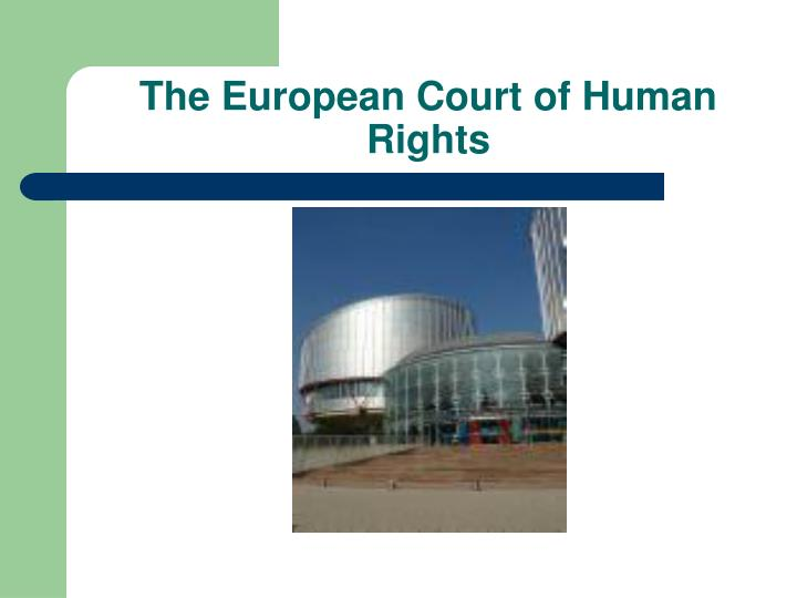 the european court of human rights n.