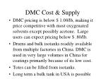 dmc cost supply