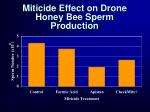 miticide effect on drone honey bee sperm production