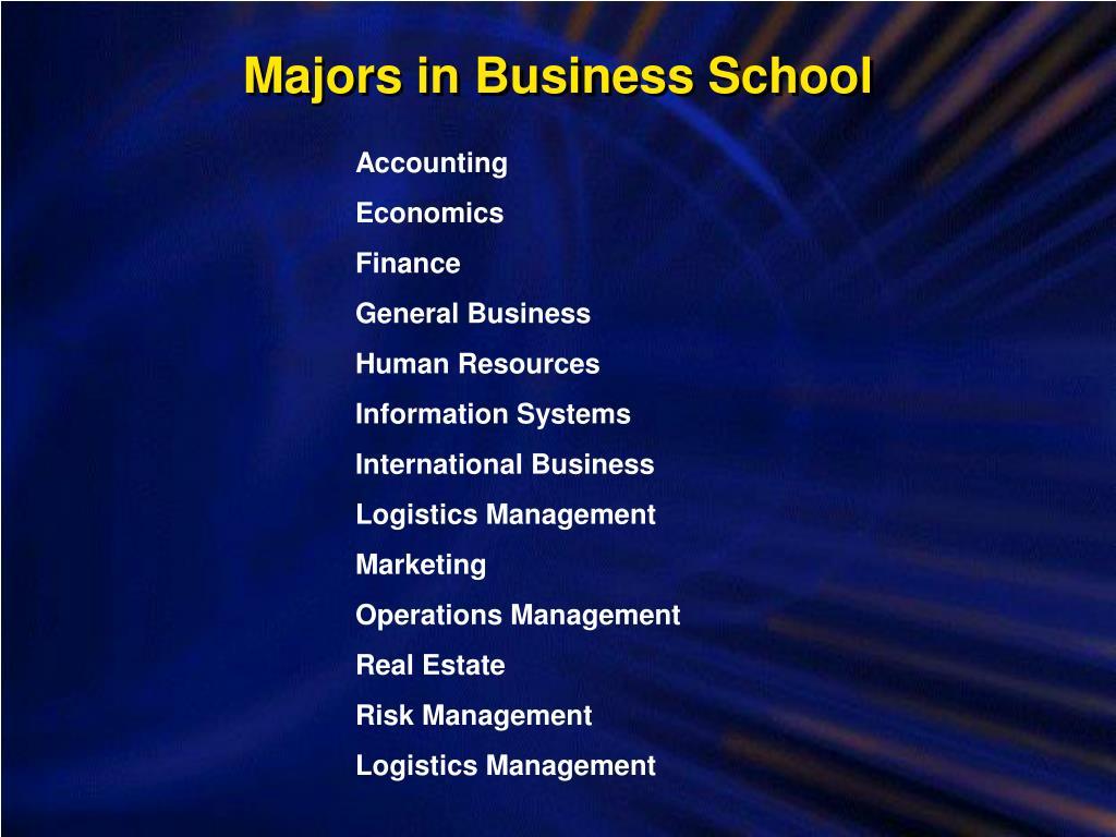 Majors in Business School