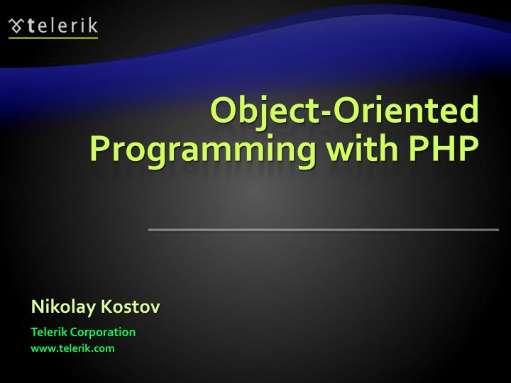 object oriented programming with php n.