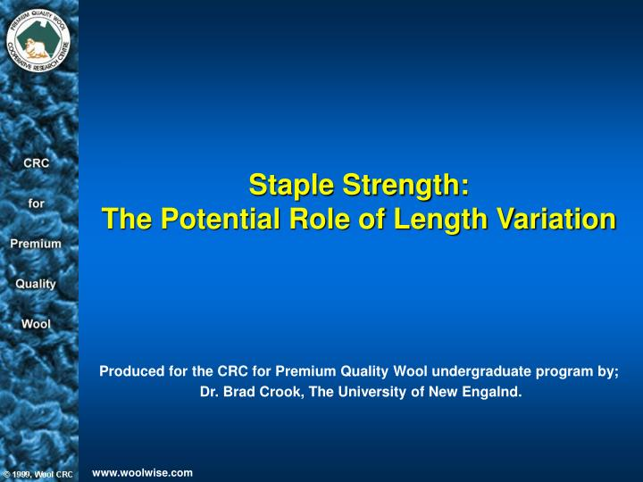 staple strength the potential role of length variation n.