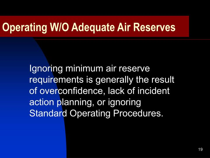 Operating W/O Adequate Air Reserves
