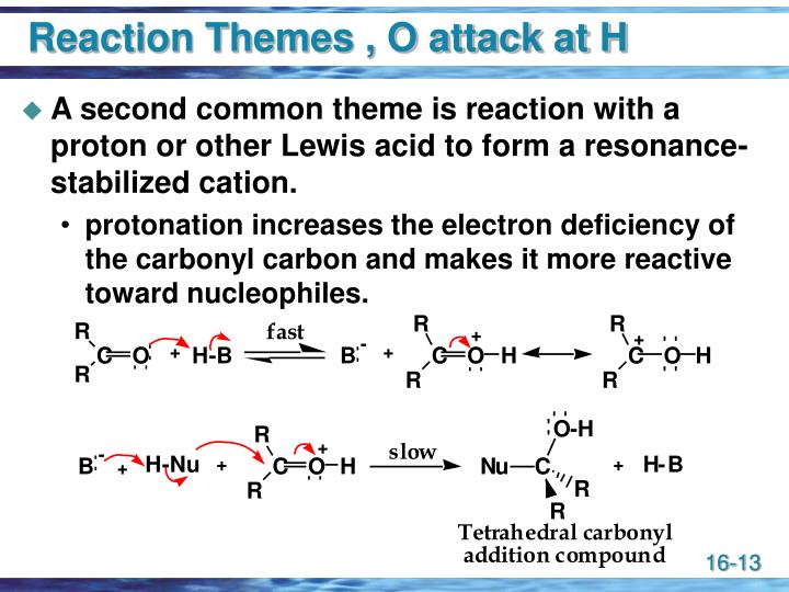 Reaction Themes , O attack at H