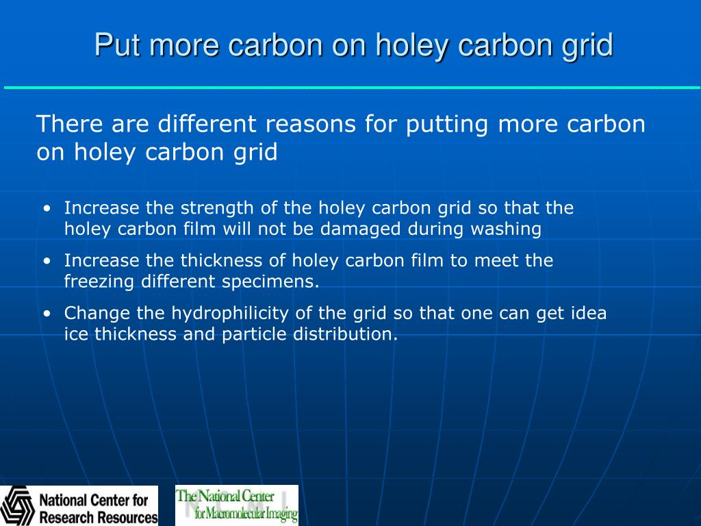 Put more carbon on holey carbon grid