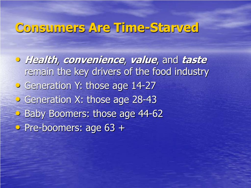 Consumers Are Time-Starved