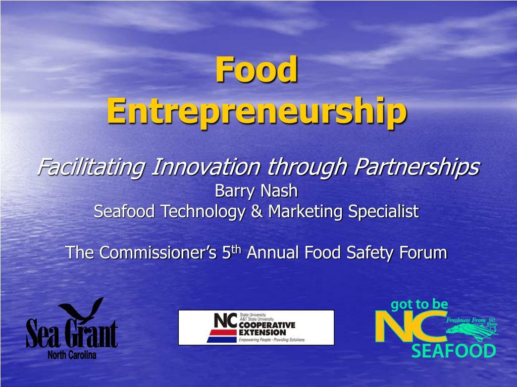 food entrepreneurship l.