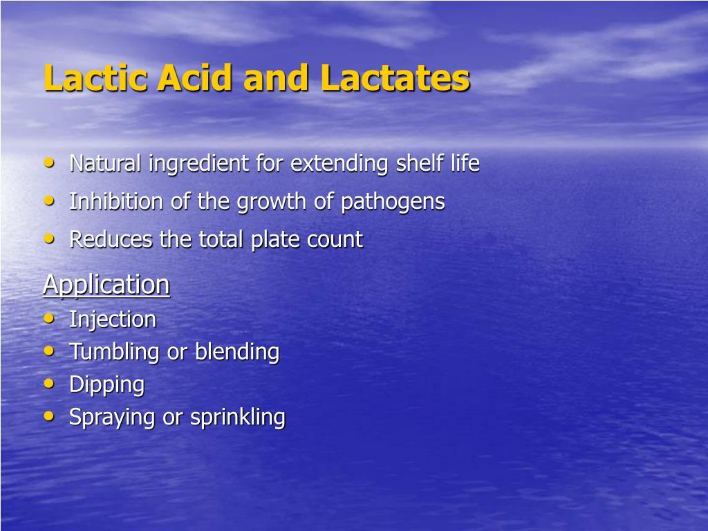 Lactic Acid and Lactates