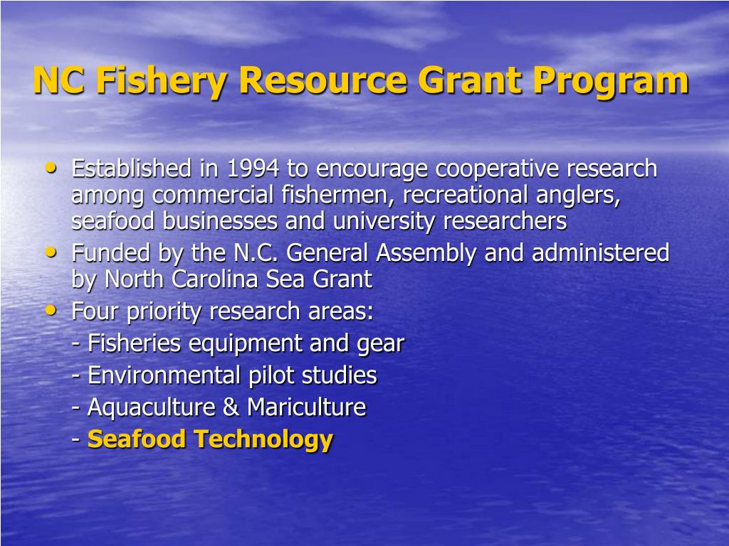 NC Fishery Resource Grant Program