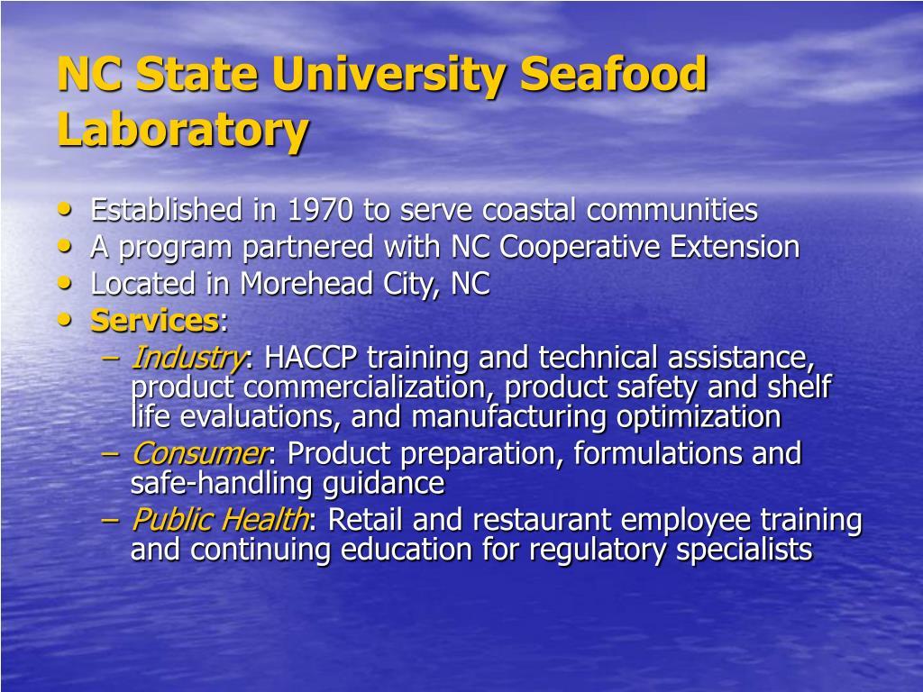 NC State University Seafood Laboratory