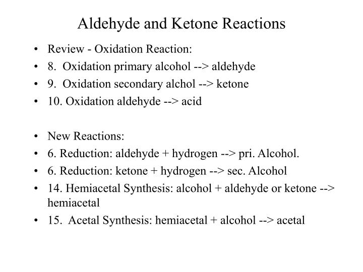 ppt aldehyde and ketone reactions powerpoint presentation id 142637. Black Bedroom Furniture Sets. Home Design Ideas