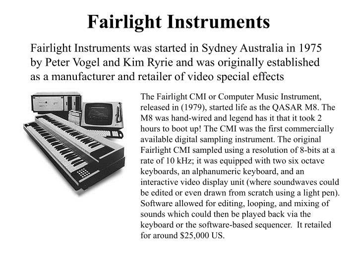 Fairlight instruments