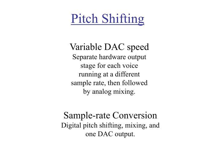Pitch Shifting