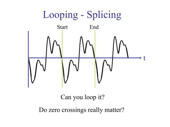 Looping - Splicing