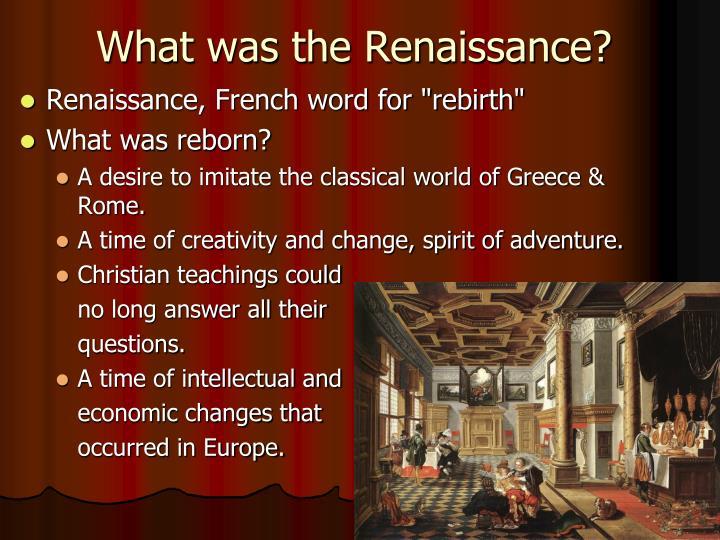 the importance of renaissance and reformation Definition of women in the renaissance and reformation an important part of renaissance feminism was the querelle des femmes.