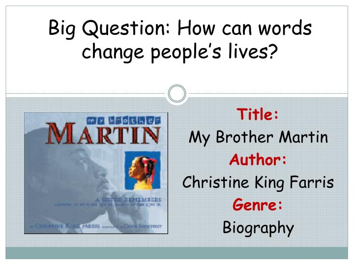 big question how can words change people s lives n.