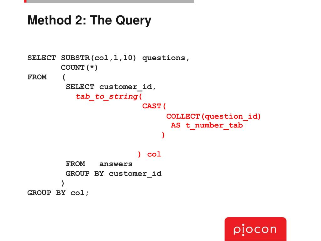 Method 2: The Query