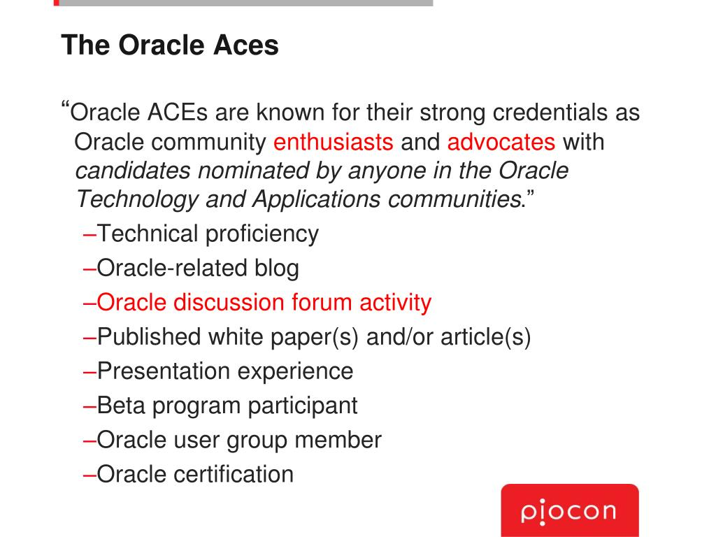 The Oracle Aces