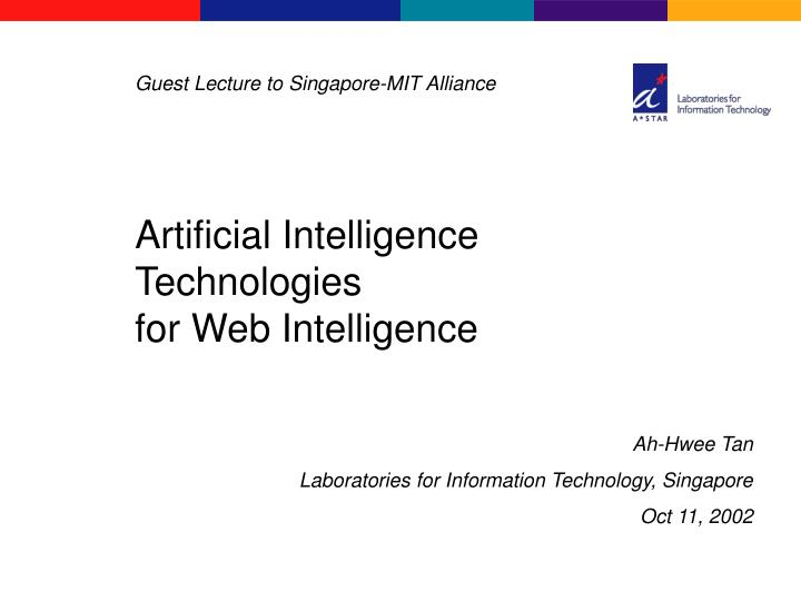 artificial intelligence technologies for web intelligence n.