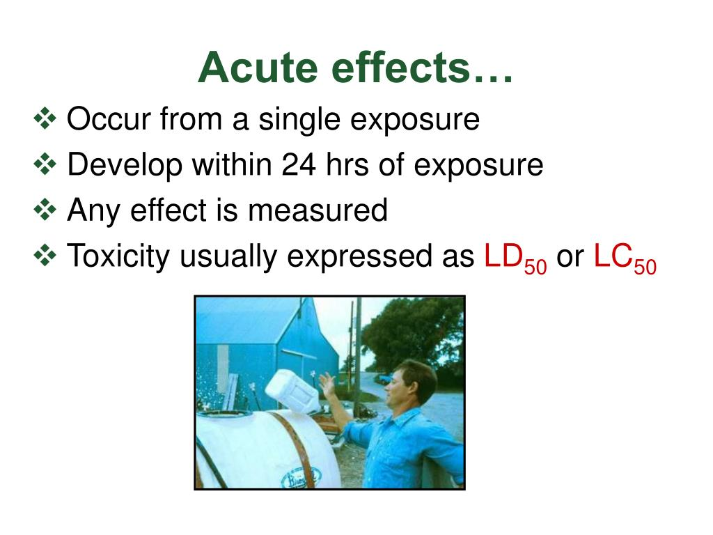 Acute effects…
