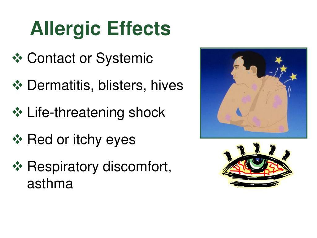 Allergic Effects