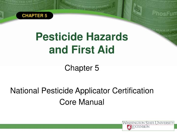 pesticide hazards and first aid n.
