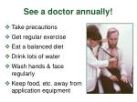 see a doctor annually