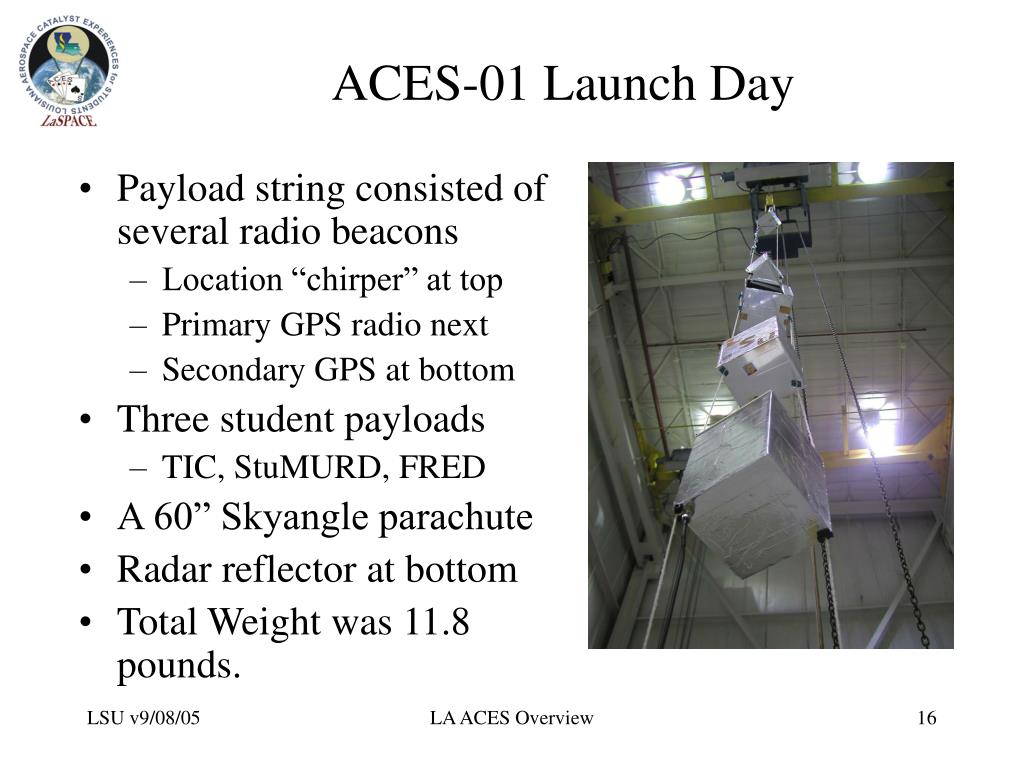 ACES-01 Launch Day