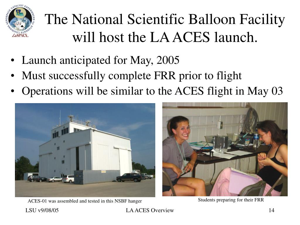 The National Scientific Balloon Facility will host the LA ACES launch.