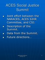 aces social justice summit