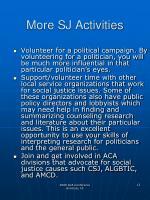 more sj activities