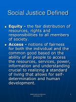 social justice defined4