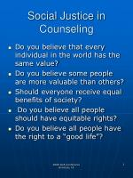 social justice in counseling