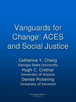 vanguards for change aces and social justice