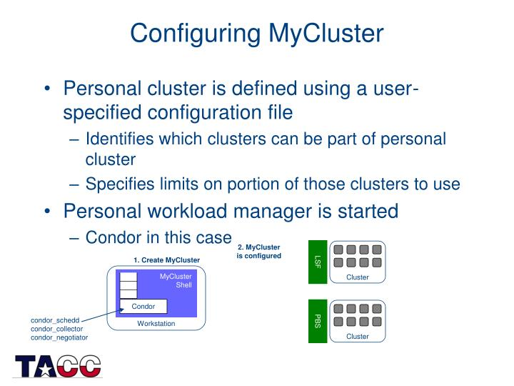 Configuring MyCluster