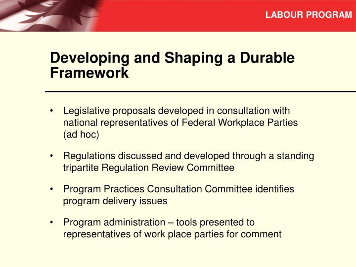 Developing and Shaping a Durable Framework