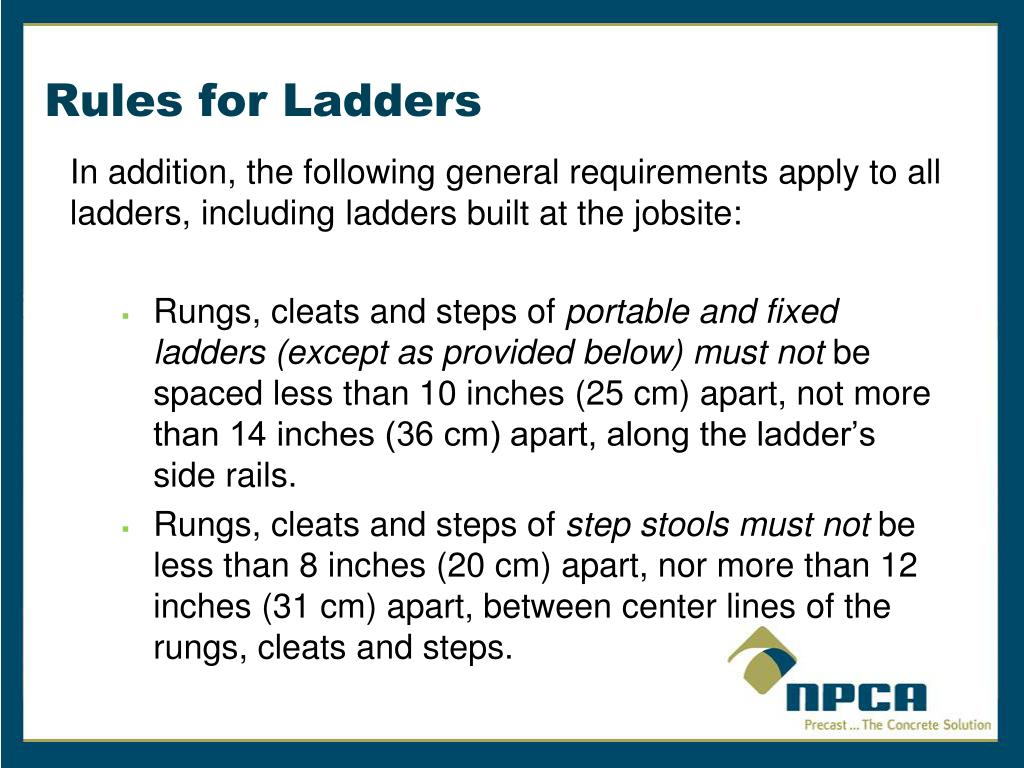 PPT - Fixed and Portable Ladders- A Guide to OSHA Rules