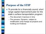purpose of the stip
