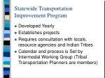 statewide transportation improvement program