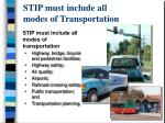 stip must include all modes of transportation