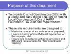 purpose of this document