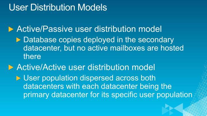 User Distribution Models