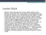 louise gl ck1