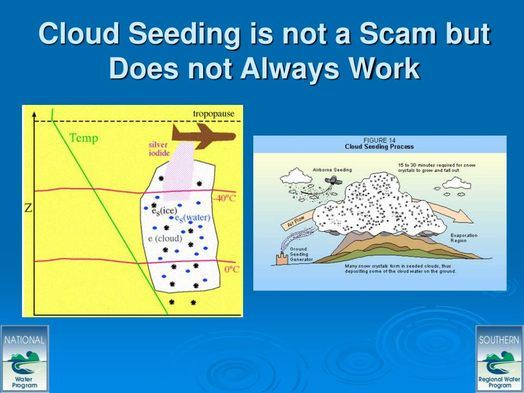 Cloud Seeding is not a Scam but Does not Always Work