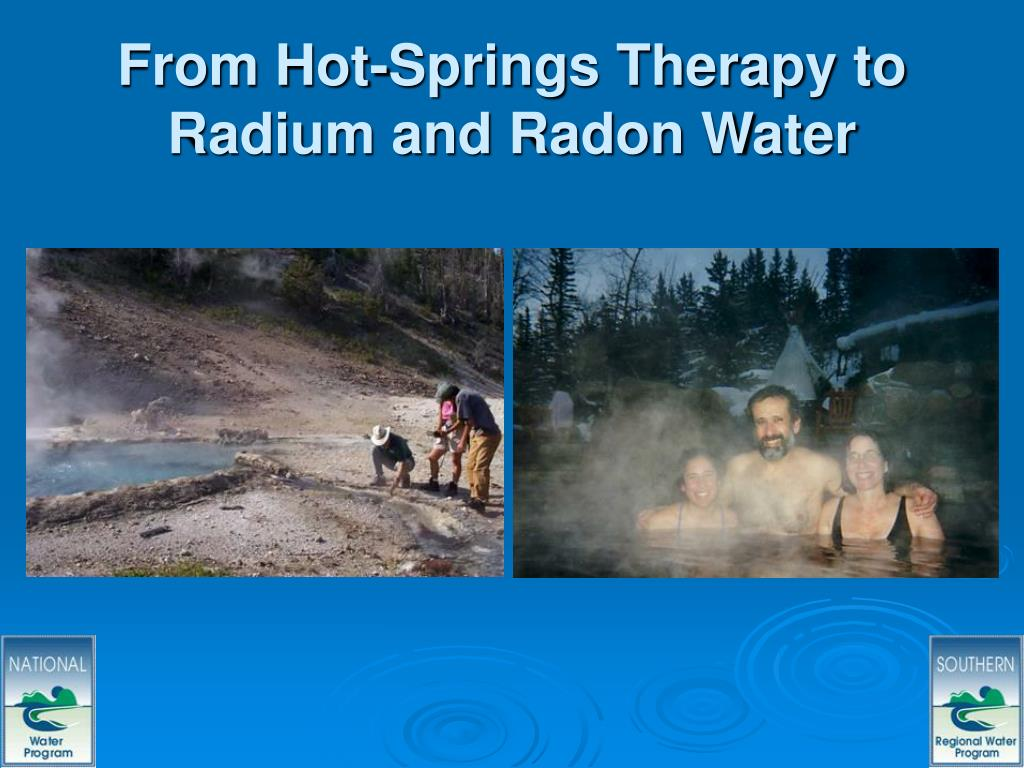 From Hot-Springs Therapy to Radium and Radon Water