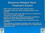 nuisance related water treatment scams